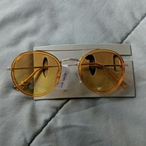 NWT UA Yellow circle aviator sunglasses